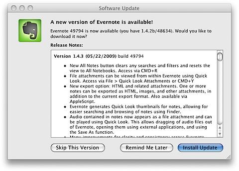 【アプリケーション】メモ・クリッピングアプリ「evernote」がバージョンアップしています