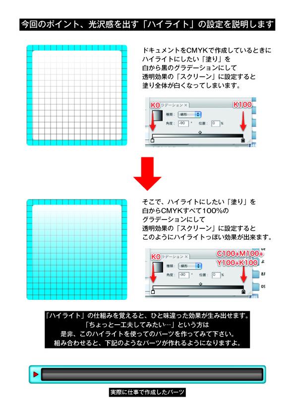 【素材】【Illustrator】【Tips】【002】CMYKデータ上にて立体パーツのハイライト部分の作り方&アピアランスを使ってみよう(エントリ関連素材ダウンロード有)