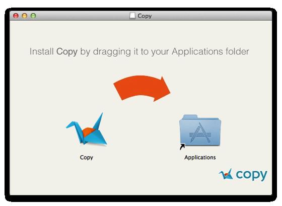 copyMac版アプリケーションインストール
