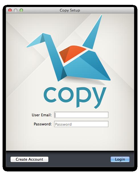 copyMac版ログイン画面