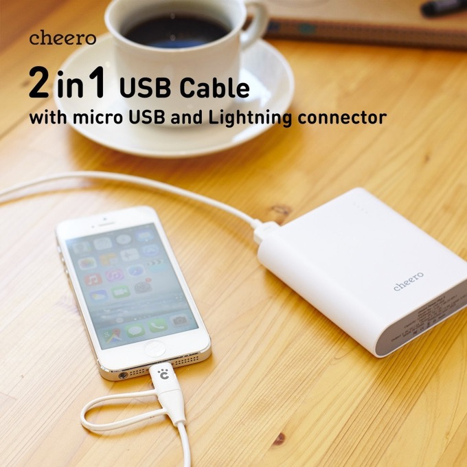 cheero 2in1 USB Cable