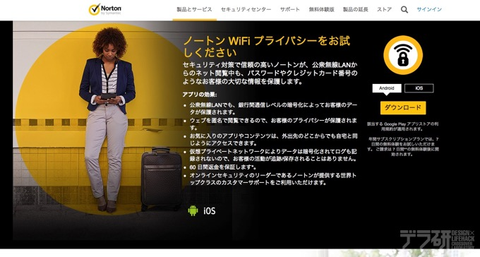 ノートン WiFi プライバシー