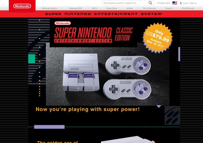 Super Nintendo Entertainment System™ Super NES Classic Edition Official site 2